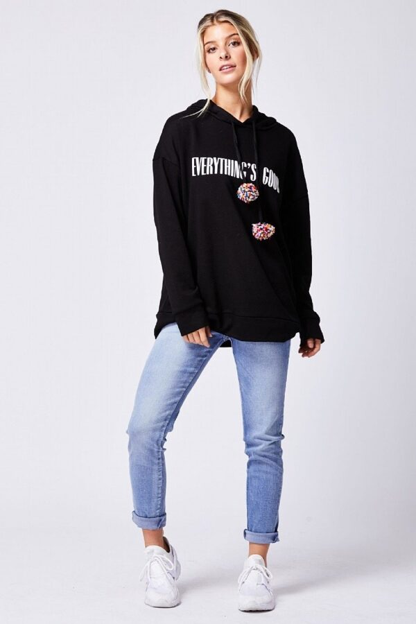 Black hoody available to buy online