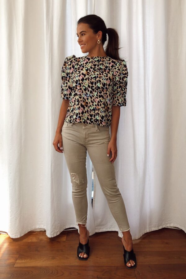 Animal print blouse available to buy online