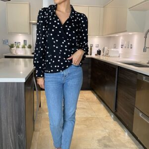 Polka dot blouse available to buy online