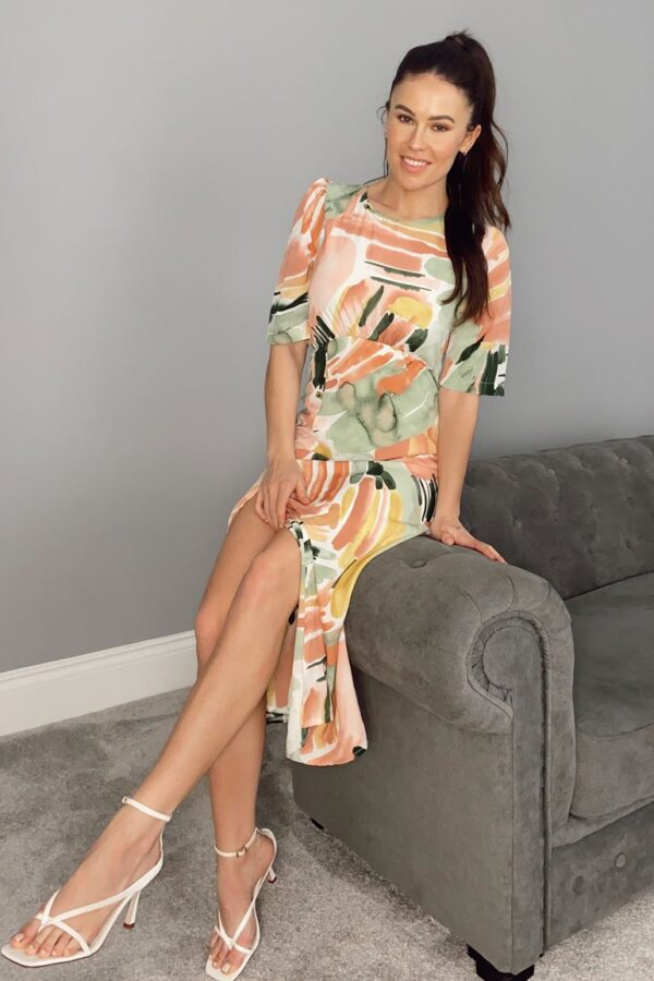 Peach Margot dress available to buy online