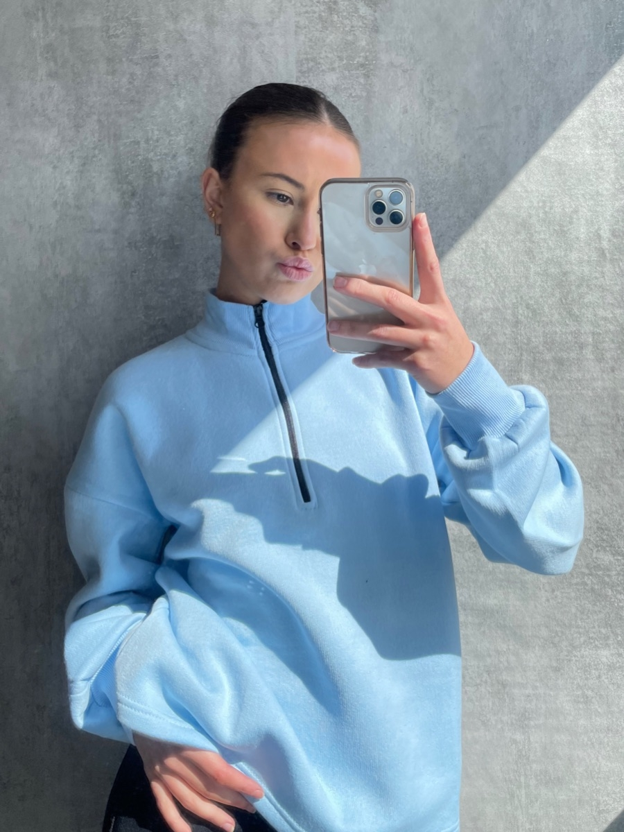 Blue Quarter Zip available to buy online
