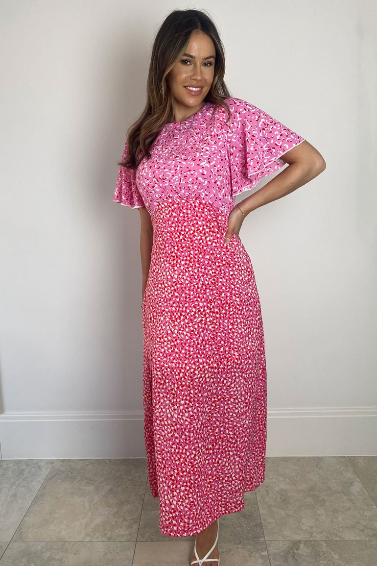Pink midi dress available to buy online