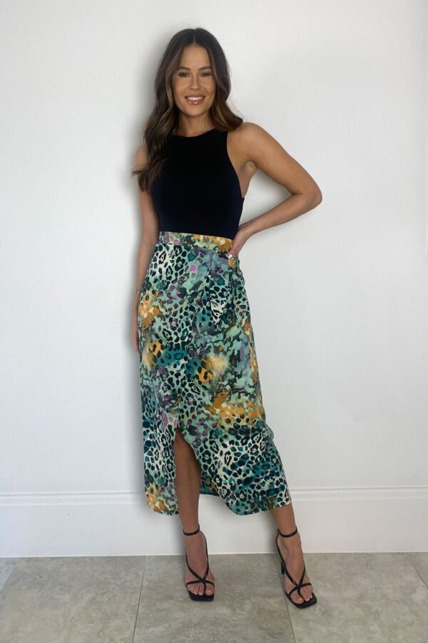 Leopard print skirt available to buy online