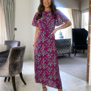 Purple floral dress available to buy online
