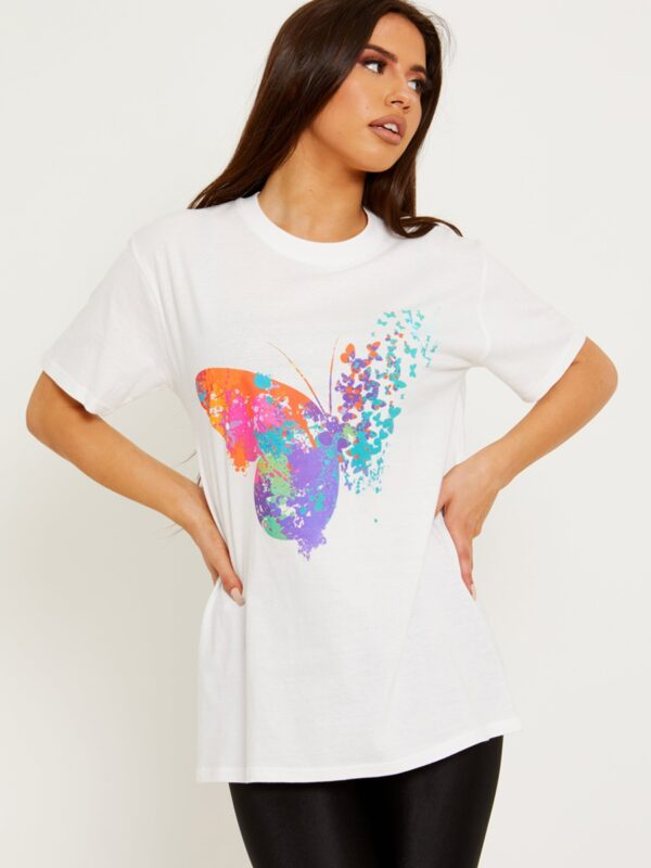 White Butterfly Tee available to buy online
