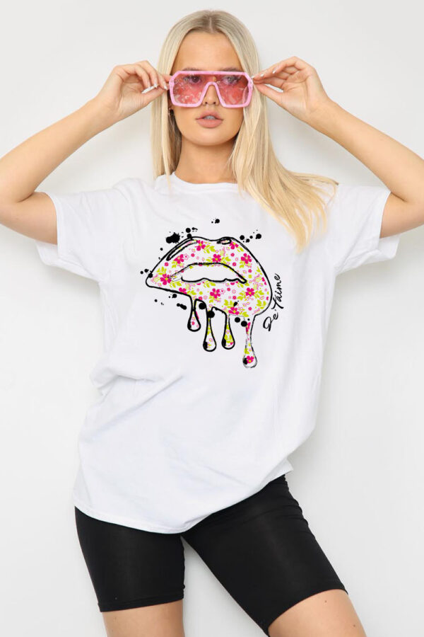 White lips tee available to buy online