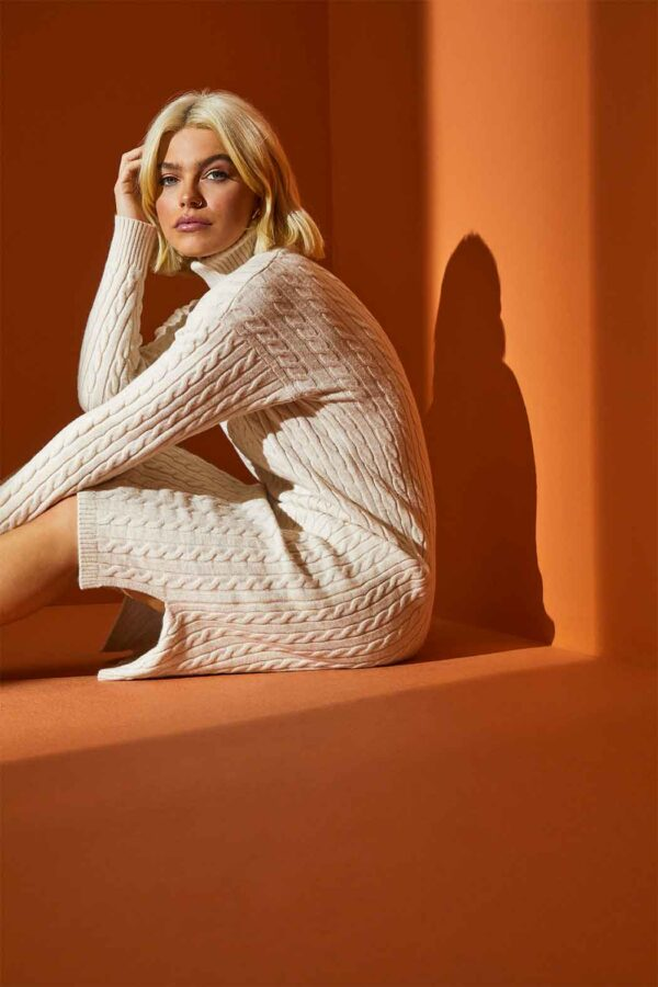 Chunky knit dress available to buy online